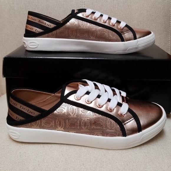 Bebe Dacia Rose Gold Sneakers   Poshmark